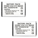 2 Pack Fenzer Replacement 500mAh Cell Phone Battery for LG vx1000 Migo vx3200 vx3300 vx3400 vx4650 vx4700 vx4750 vx5200 vx5300 vx6100 vx8100 vx8300