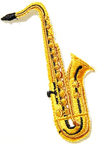 Saxophone Classic Music Jacket T-Shirt Patch Sew Iron on Embroidered Logo Sign Badge