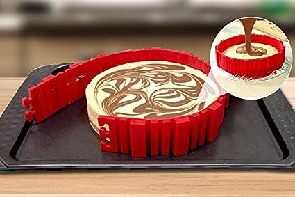 Molde para tartas de silicona de Maxus 4 piezas, molde para hacer tartas en casa