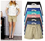 HOW'ON Women's Elastic Waist Casual Comfy Cotton