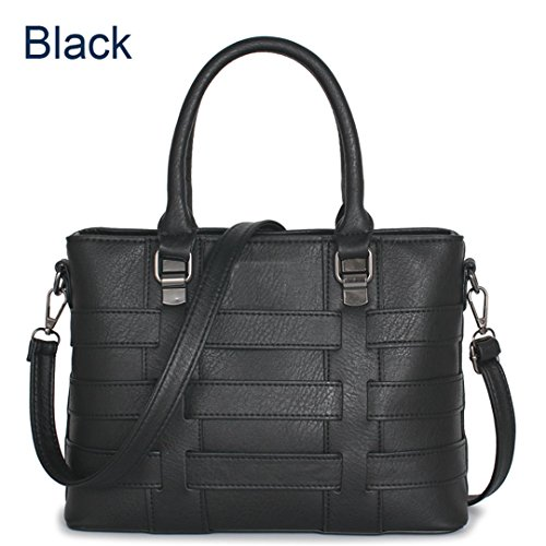 approximativement femmes Sac de 21cm Pour sac main femmes sac Sac les 30cm Black à en à concepteur Kabelka les cuir sac A821 Black polyuréthane célèbre bandoulière à main 13cm qwCS7pPxq
