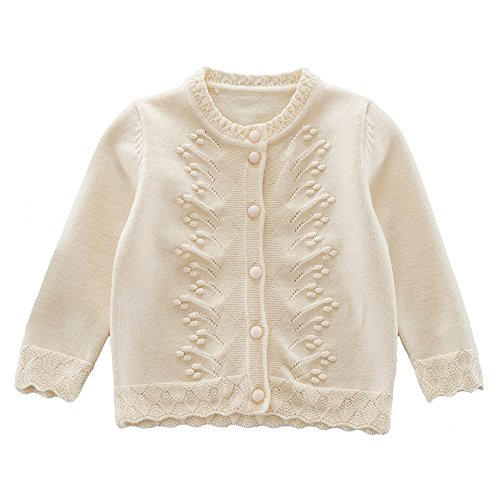 girls cream cardigan - 6