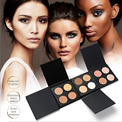 vinmax 4 Colors Pearl Powder Palette Cosmetics Cream Contour & Highlighting Makeup Kit-Pure,Vegan, Cruelty Free & Hypoallergenic- Ladies 0.5 Oz-2#