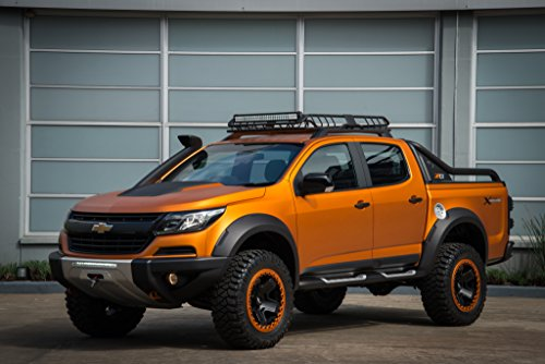 Chevrolet S10 Xtreme Concept (2016) Truck Print on 10 Mil Archival Satin Paper Orange Front Side Static View 11