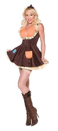 4ce58b150 Amazon.com: Smiffy's Sexy Womens Scarecrow Wizard of Oz Halloween ...