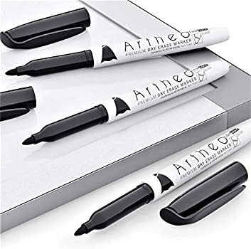 Works On Most Non-Porous Surfaces With Fine Point Bulk Pack of 60 ARTHEO Low-Odor /& Non-Toxic Ink Black Dry Erase Whiteboard Markers Dry Erase Markers Black Bulk Pack