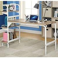 HOMES: Inside + Out IDF-DK6099 Amazonite Office Desk, Powder Coat White