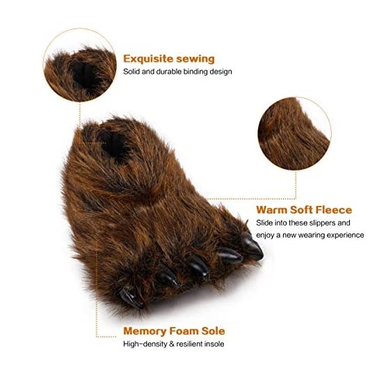 Bear Slippers With Claws | Fluffy Kawaii Slippers 3