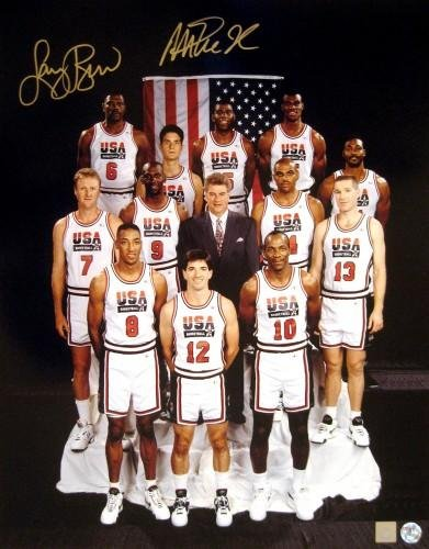 quality design f7c9a 9f0af Autographed Magic Johnson Photo - & Larry Bird Dream Team ...