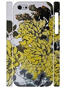 Beautiful Vintage Yellow Flower Slim Phone Shell Case for Iphone 5C