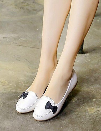 Ballerine lavoro Comoda e ShangYi Light Scarpe Blue pelle Casual Donna Ufficio Piatto Finta Blu Rosa Bianco qwEXR