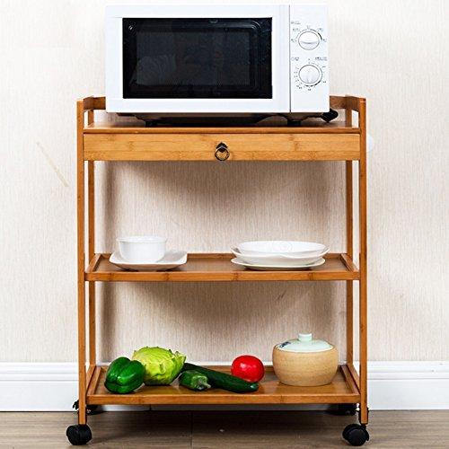 Estante del horno microondas, cocina Bambú se puede mover ...