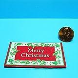 Dollhouse Miniature Christmas Door Mat Merry Christmas RND - My Mini Fairy Garden Dollhouse Accessories for Outdoor or House Decor
