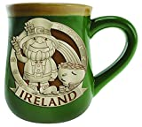 Irish Designed Pottery Mug With A Leprec