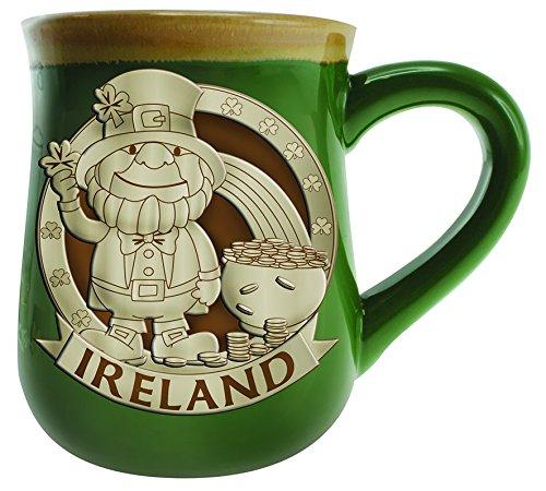 ry Mug With A Leprechaun Design, Green Colour ()
