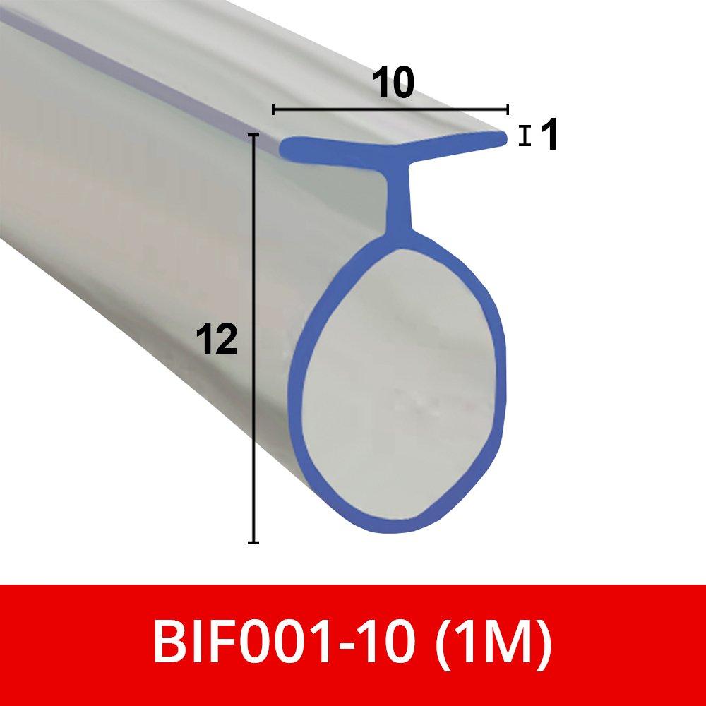 Joint souple en caoutchouc pour portes de douche pliantes /à deux battants et canaux de douche BIF001.