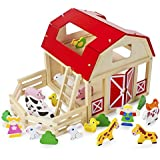 Wooden Wonders Busy Barnyard Farm Animals Playset with 22 Accessories by Imagination Generation