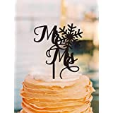 Mr and Mrs Cake Topper Snowflake Cake Toppers for Wedding Cake Decorations
