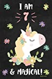 Unicorn Journal I am 7 & Magical!: Cute Happy Birthday 7 Years Old
