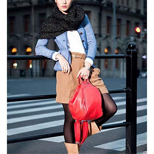 zaini Borsa pelle Donna tracolla in pelle strato blu in bovina moda scuro primo a casual wqAF7