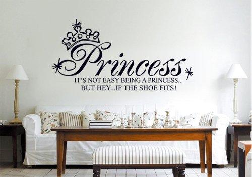 O Plaza 174 Df5208 Wordart Quot Princess Quot Removable Vinyl Bedroom