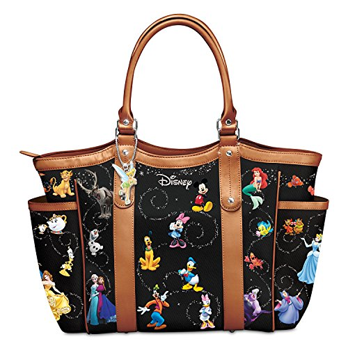 Disney Handbag With Character Art And Tinker Bell Charm by The Bradford Exchange (Tinkerbell Charm)