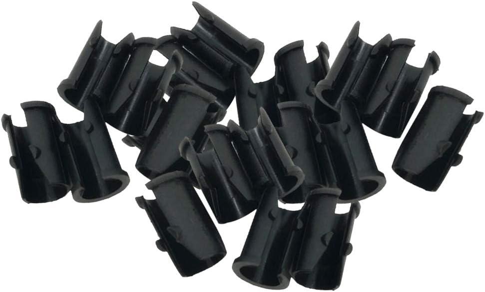 T TOOYFUL Pack Of 20 Bike Frame Brake Cable Buckcle Sleeve U Type Hose Pipe Clamp