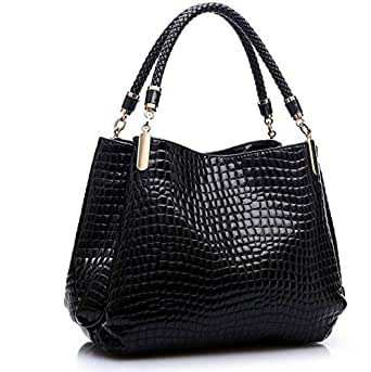 Crocodile design with strap,PU leather handbag for ladies