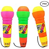 Magic Mic Toy Echo Microphone Voice- for Kids Graduations | Holidays |Birthday Parties-3 Pack