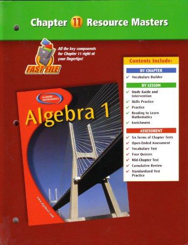 - Algebra 1 Chapter 11 Resource Masters