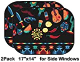 Liili Car Sun Shade for Side Rear Window Blocks UV Ray Sunlight Heat - Protect Baby and Pet - 2 Pack Image ID: 27487377 Mexican Seamless Pattern with Icons in Native Style