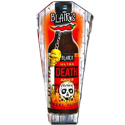 (Blair's Ultra Death Sauce with Jersey Fury and with Skull Key Chain - (3 Pack) )
