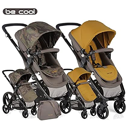Be Cool - Silla de paseo slide gris/amarillo: Amazon.es: Bebé