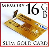UK-DIGITAL Clé USB 2.0 ultrafine à mémoire Flash sous forme de carte de crédit 16g 16Go