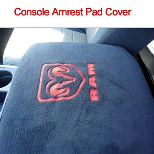 HERCHR Center Console Armrest Protector Pad Cover, Fit for Dodge Ram Pickup Trucks, Black