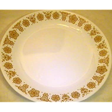 Corning Corelle Butterfly Gold Dinner Plates - Set of 4 Plates