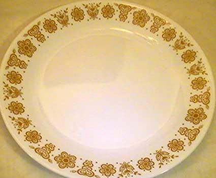 Corning Corelle Butterfly Gold Dinner Plates - Set of 4 Plates & Amazon.com | Corning Corelle Butterfly Gold Dinner Plates - Set of 4 ...