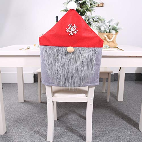 Divine Dinner Party Halloween (Nesee Christmas Decor Kitchen Chair Slip Covers Red Adorable Featuring Mr & Mrs Santa Claus for Holiday Party Festival Halloween Kitchen Dining Room)