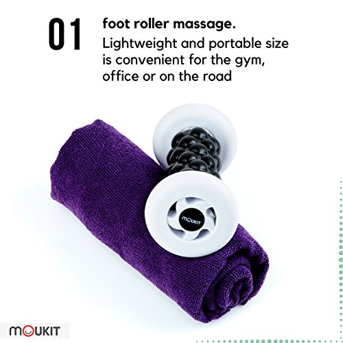 Foot Massage Set by Moukit: Massage roller for feet massage - the best foot massager for foot pain relief!