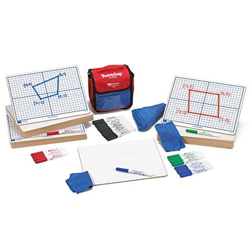 EAI Education X-Y Coordinate Grid Dry-Erase Boards: 9''x12'' Double-Sided Kit