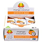 Paleo Mango Coconut Nutrition Bars – Gluten-Free, Soy-Free, Dairy-Free, Non-GMO Certified – Vegan, Raw and Kosher – Kid-School Safe Snack – Clean fuel for athletes – Pack of 12- 1.8oz Each  by Amrita