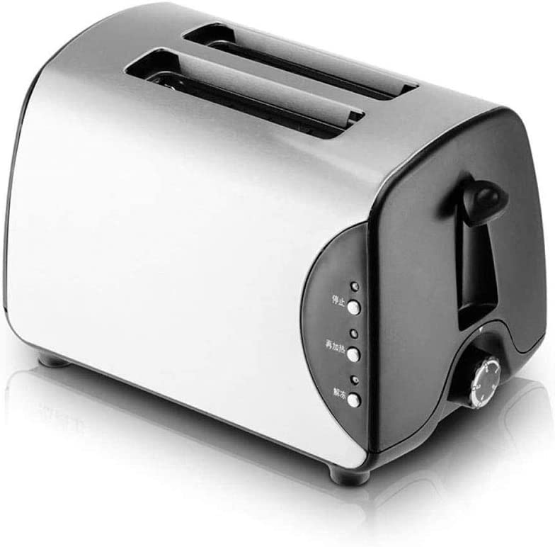 LKNJLL Toaster 2 Slice Stainless Steel Rated Toasters 5 Bread Shade Settings Bagel/Cancel/Gluten Free/Reheat Functions, 750 Watt, Compact Toaster With Extra Wide Slots, Removable Crumb Tray