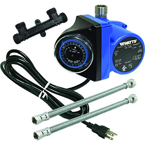 Watts 500800 Instant Hot Water Recirculating System with Built-In Timer, Easy to Install