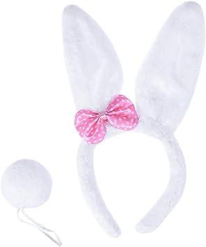 BESTOYARD Disfraz de Conejo Diadema con Orejas de Conejo de ...
