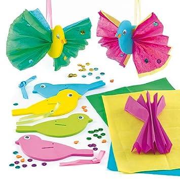 3d Deko Anhänger Vogel Mit Seidenpapier Zum Basteln Für