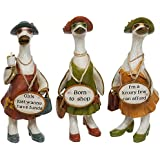 Complete Set of 3 Glam Girls Ducks ~ Fabulous Shabby Chic Ornaments by Davids Ducks