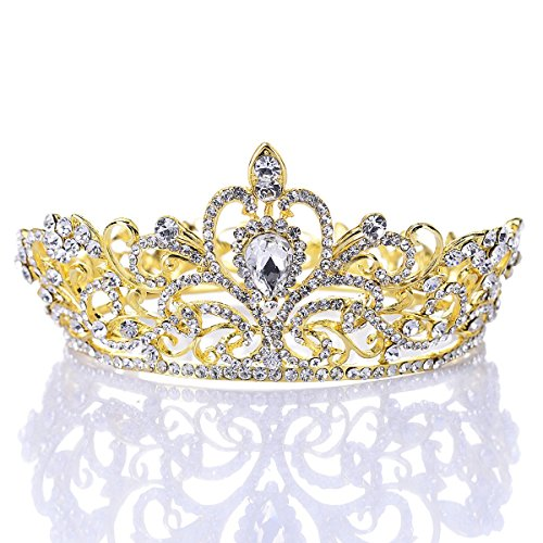[Remedios Rhinestone Wedding Tiara Headband Bridal Crown Prom Pageant Princess Tiara Crown Headpieces,] (Beauty Pageant Queen Costume)