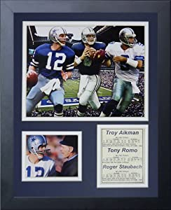 Legends Never Die Dallas Cowboys Quarterbacks Framed Photo Collage, 11x14-Inch