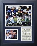 Legends Never Die Dallas Cowboys Quarterbacks Framed Photo Collage, 11x14-Inch