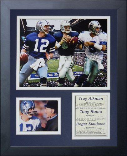 10 Framed Legends - Legends Never Die Dallas Cowboys Quarterbacks Framed Photo Collage, 11x14-Inch
